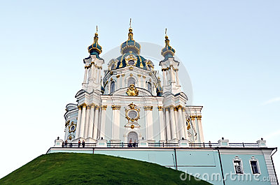 St. Andrew s church in Kyiv Editorial Stock Image