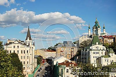 St. Andrew `s Kerk, Kiev, de Oekraïne