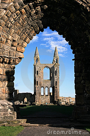 St Andrews Cathedral through the arch