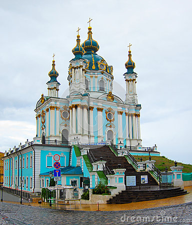St Andrews Church, Kiev de Oekraïne