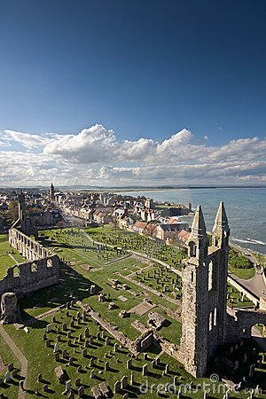 Free St Andrews From St Rules Tower Royalty Free Stock Photos - 18567308