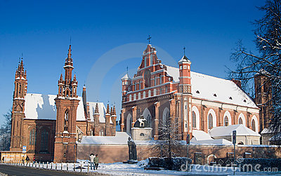 St Anne s and Bernardinu Churches in Vilnius