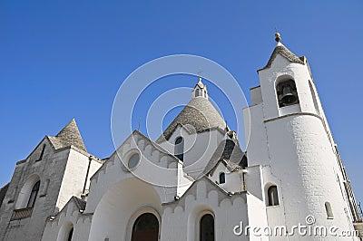 St. Antonio Trullo Church. Alberobello. Apulia.