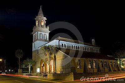 St. Augustine at night
