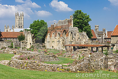 St.Augustines Abbey  with Canterbury Cathedral