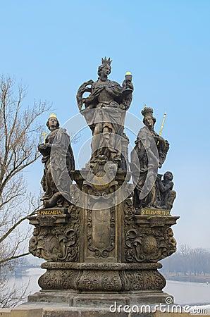 St. Barbara, Elizabeth and Margaret statue, Prague