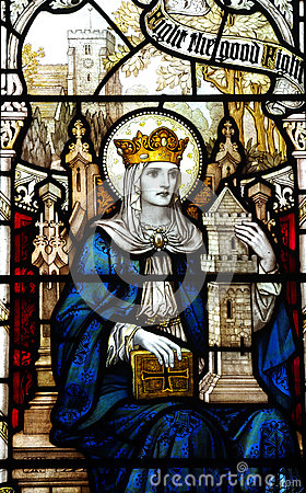 Free St. Barbara In Stained Glass Royalty Free Stock Images - 48184629