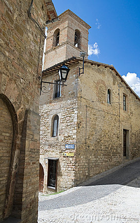 Free St. Bartolomeo Church. Montefalco. Umbria. Stock Images - 15591454