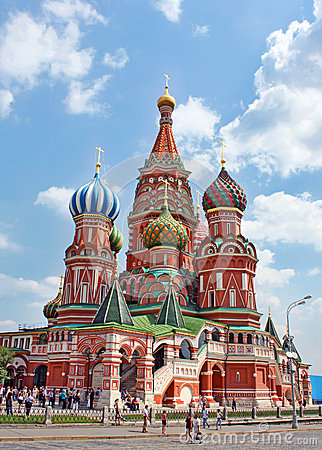 St. Basil Cathedral in Moscow Editorial Image