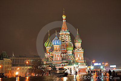 St. Basil Cathedral [at night]