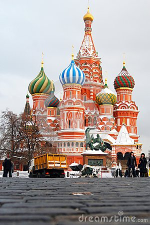 St. Basil Cathedral, Red Square, Moscow, Russia. UNESCO World He Editorial Photo