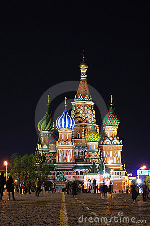 Free St.Basil S Cathedral In Night. Moscow Stock Photo - 11683370