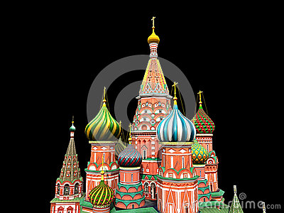 St Basil s Cathedral, Moscow, illustration,