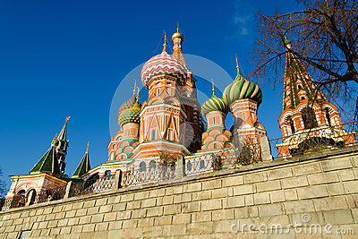 St Basil's Cathedral in Moscow Russia