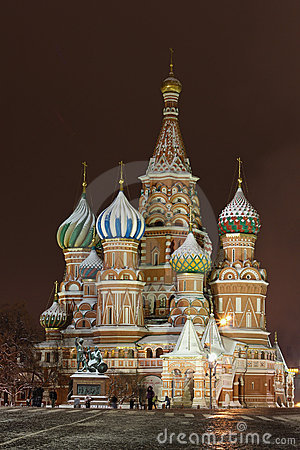 Free St.Basil S Cathedral On Red Square, Moscow Royalty Free Stock Photos - 22542608