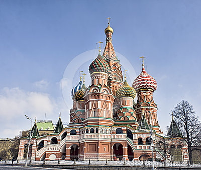 St Basil s cathedral on Red square in Moscow