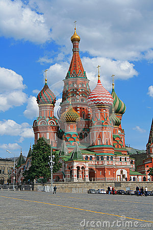 St. Basil s Cathedral at the Red Square of Moscow