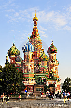 St Basil`s church in Moscow Editorial Stock Photo