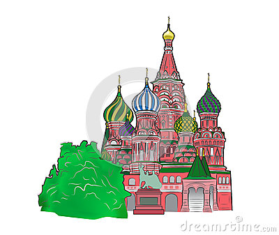 St Basil vector illustration color version