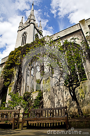 St Dunstan-in-the-East Church in London