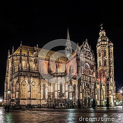 Free St. Elisabeth Cathedral Panorama Kosice Stock Photo - 104569080