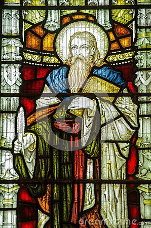 St Elisha Stained Glass Window