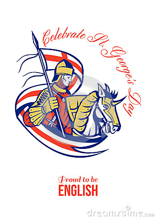 St. George Day Celebration Proud to Be English Retro Poster