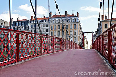 St Georges foot-bridge in Lyon