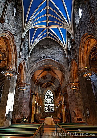 St Giles Cathedral. Edinburgh. Scotland. UK.