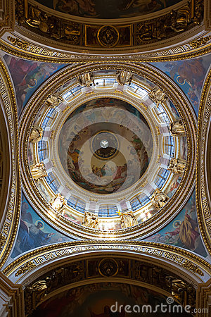 St. Isaac s Cathedral, the ceiling