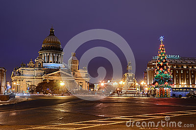 St Isaacs Square in Petersburg, Russia. Editorial Stock Image
