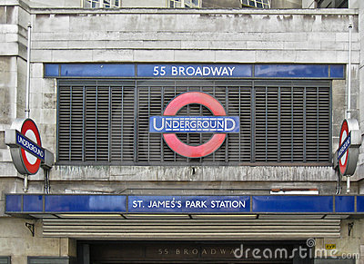 St James Park Underground Station London Editorial Photo