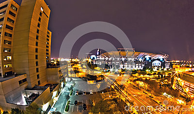 1st january, 2014, charlotte, nc, usa - night view of carolina p Editorial Stock Image