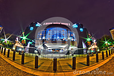 1st january, 2014, charlotte, nc, usa - night view of carolina p Editorial Stock Photo