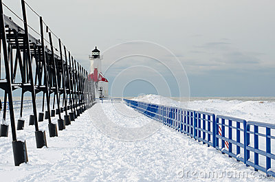 St Joe cold winter light house