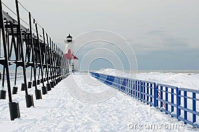 St Joe cold winter light house