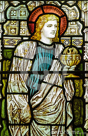 St John the Evangelist stained glass window