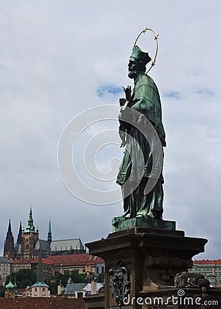 St. John of Nepomuk and Prague Castle