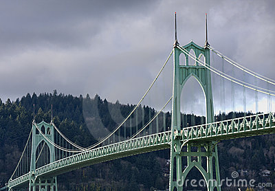 St. John s Bridge in Portland Oregon, USA.