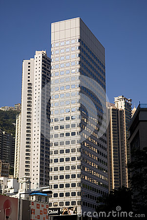 Free St. John S Building Peak Tram Terminus Hong Kong Central Financial Centre Skyline Skyscraper Stock Photos - 48810913