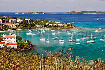St. John, USVI - Stunning Cruz Bay Editorial Image
