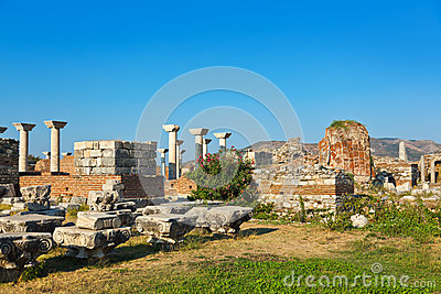 St. Johns Basilica at Selcuk Ephesus Turkey