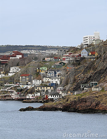 St.Johns harbour side, Newfoundland, Canada