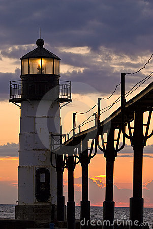 St. Joseph Light House at Dusk