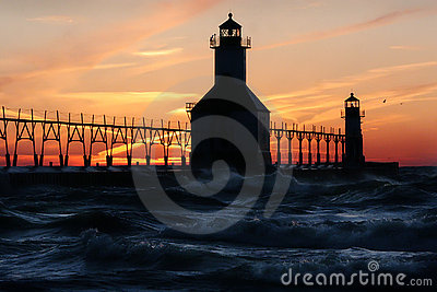 St. Joseph North Pier Lights