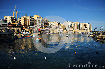 St Julians bay, Malta Editorial Image