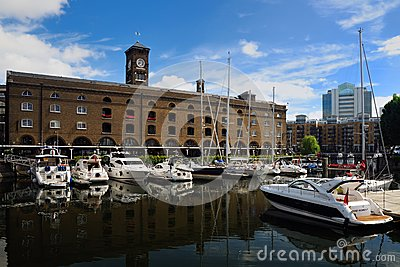 St katharine dock Editorial Stock Image