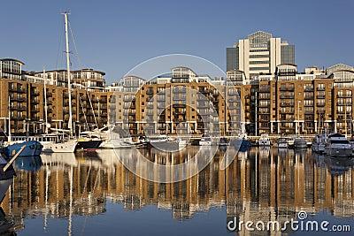St. Katharines Dockyard - London - England Editorial Stock Photo