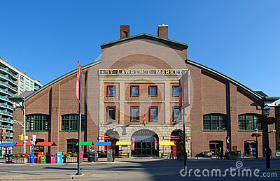 St. Lawrence Market in Toronto Editorial Stock Image