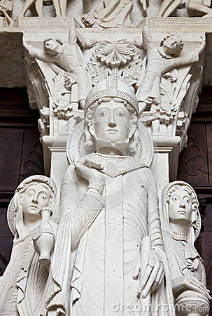 St-Lazare detail of Last Judgment Portal
